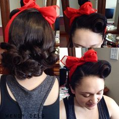 A headscarf adds so much to an already adorable hairdo #Suavecita #Suavecito #pomade #victoryrolls #pinup #hairstyles picture by @_wendydelg