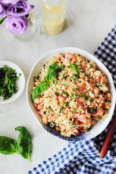 Use your leftover rice to make this light and refreshing beans and rice side dish. It's protein-packed gluten-free and ready in ten minutes. Rice Recipes, Gluten Free Recipes, New Recipes, Vegetarian Recipes, Dinner Recipes, Healthy Recipes, Sweets Recipes, Family Recipes, Kitchen Recipes