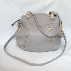 Larch leather bag in cement grey by valhallabrooklyn on Etsy