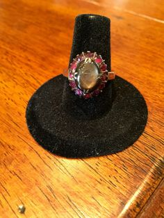 Vintage 14k gold Ruby & Tigers eye ring. Center by FabulousFinds30
