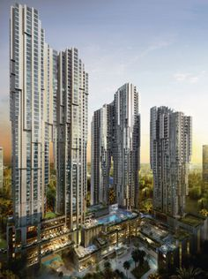 PLATINUM PARK, KUALA LUMPUR, MALAYSIA ////// Slender 60-storey hotel, with only…