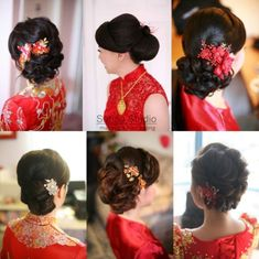 Trendy wedding hairstyles updo asian hair and makeup Asian Hair And Makeup, Asian Bridal Makeup, Bridal Hair And Makeup, Hair Makeup, Wedding Makeup, Asian Hair Updo, Asian Wedding Hair, Hairdo Wedding, Bridal Hair Updo