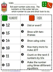Math Coach's Corner: Number Tasks