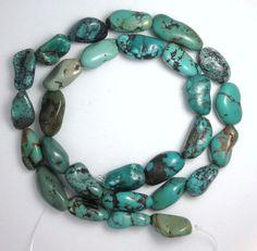 Turquoise-Nugget-Loose-Gemstone-Beads-8mm-x-10mm-Craft-Jewelry-16-Std- lot 301 #Erthart #Southwest