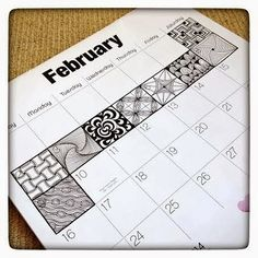 fun way to mark of the days and get your daily zentangle / doodling in!