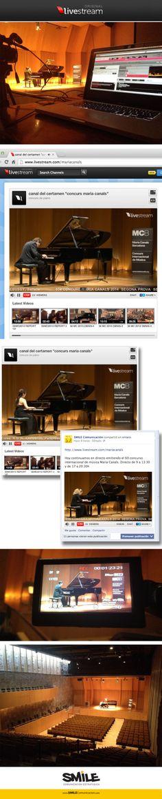 Servicio profesional de streaming. Emisión en directo de vídeo y audio por internet. Retransmisión de eventos, actos, conciertos, conferencias | http://www.smilecomunicacion.com/en/diseno-y-comunicacion/fotografia-y-video/