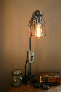 Steampunk Industrial Light Machine Age Lamp #82 by Machine Age Lamps