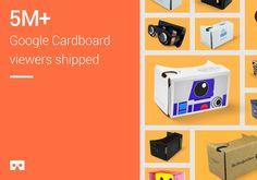 #Google vendió más de 5 millones de #Cardboard, su visor de #realidad #virtual Cardboard Viewer, Electronics, Google, Books, Virtual Reality, Future Gadgets, To Sell, Tecnologia, Livros
