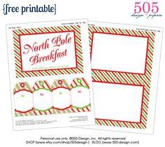Elf on the Shelf Breakfast Printables — 505 Design+Paperie | WHOLE LIVING WEB MAGAZINE CELEBRATIONS