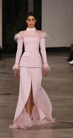 George Chakra Couture Spring/Summer 2019 Pink Evening Dress, Evening Dresses, Ball Dresses, Short Dresses, Pink Dresses, Ladylike Style, Classy Style, Georges Chakra, Red Carpet Gowns