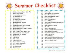 Summer Holiday Delights On Pinterest Checklist