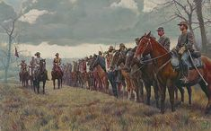 John Hunt Morgan's cavalry regiment, who saw most action in Kentucky. Morgan raided the furthest north of any Confederate army, being the northernmost reaches of Ohio.