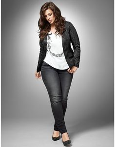Black jeans with jacket