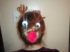 reindeer run at school ~ got the idea from Pinterest!!!