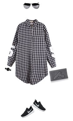 """""""Sporty yet pollished day to night look !"""" by azzra ❤ liked on Polyvore featuring NIKE, Nixon and DayToNight"""