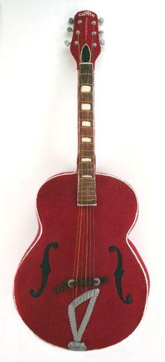 Gretsch Guitar Felt Sculpture. $380.00, via Etsy.
