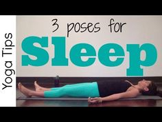 Yoga for Bedtime | 3 poses to Fall Asleep Faster - YouTube
