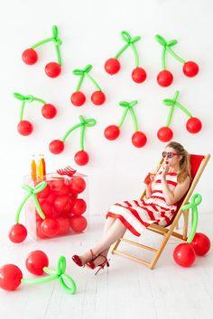 DIY Balloon Fruit   Oh Happy Day!   Bloglovin'