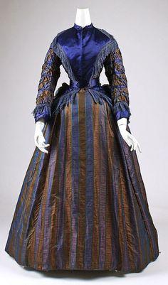 The HoopSkirt Society. Silk day dress, ca. 1870