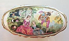 Vintage Lipstick Holder & Mirror Classical Illustration