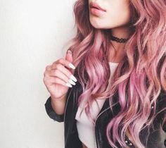 Imagen de hair, pink, and grunge