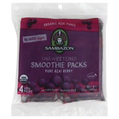 Sambazon Smoothie Packs, Unsweetened, Pure Acai Berry Image