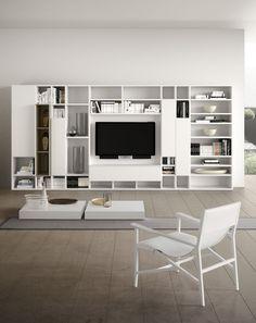 Mueble TV moderno / de madera - SPAZIOTECA MOD.SP014 - PIANCA