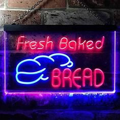 Fresh Baked Bread Bakery LED Neon Light Sign