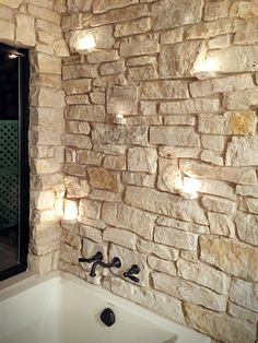 Beautiful Stone Veneer Wall Design Ideas - If you thought stone veneer was just for front facing a home to add curb appeal then you only know half the story. Real thin stone veneer is a beautif. Stone Wall Design, Thin Stone Veneer, Stone Interior, Interior Columns, Interior Modern, Interior Design, Craftsman Interior, Craftsman Houses, Stone Masonry