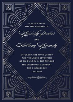 wedding invitations - Gatsby Love by Anupama