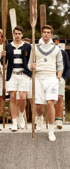 It looks like Ralph Lauren all the way to me. Moda Preppy, Preppy Boys, Preppy Style Men, Preppy Mens Fashion, Womens Fashion, Estilo Navy, Estilo Preppy, Adrette Outfits, Preppy Outfits