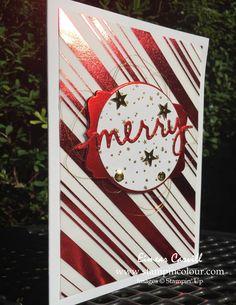 Christmas Greetings Thinlits, fancy foil vellum