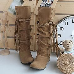 super cute lace up tall boots/moccasins