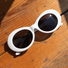 White Kurt Cobain sunglasses