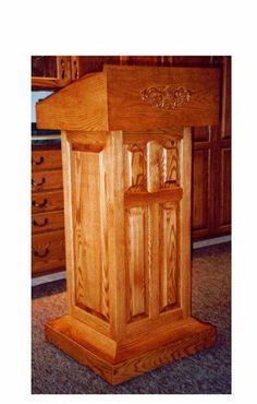 Movable Oak Pulpit