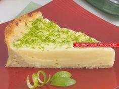 Receita de Torta light de limão