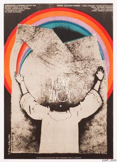 Movie Posters Auction / £0.99 / This TUESDAY 01.11.2016 / Magical Movie Posters from Czechoslovakia for Everyone !! / SHORT LIFE movie poster designed by Zuzana Mináčová, Czechoslovakia, 1976. #postersale #graphicdesign