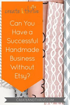 Can you have a successful handmade business without Etsy? Yes... but why would you want to? Read on... Diy Home Interior, Own Website, I Work Out, Selling Jewelry, Sell On Etsy, Business Tips, Success, Etsy Shop, Things To Sell
