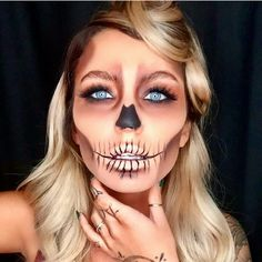 halloween skeletons halloween face halloween makeup face art voodoo maquillaje