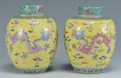 Lot 490: Pr. Chinese Republic Famille Rose Vases - Image 1 - to bid online, visit our catalog at http://www.liveauctioneers.com/catalog/49503_winter-fine-art-and-antiques-auction/page25?rows=20