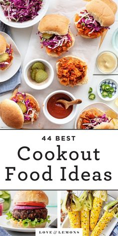 Plan the BEST summer cookout menu with these easy cookout food ideas! Perfect for any backyard BBQ, they include main dishes, grilling sides, salads, desserts, and more. | Love and Lemons #summer #bbq #cookout #cookoutfoodideas #grilling Easy Summer Meals, Summer Recipes, Easy Meals, Summer Bbq, Summer Food, Lemon Recipes, Veggie Recipes, Vegetarian Recipes, Free Recipes