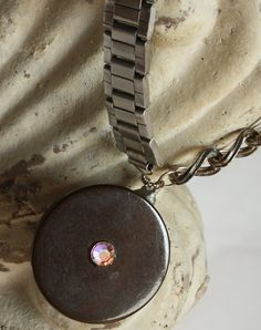 ButtonShop.ca - Big Button Watchband Necklace - $50.00 USD