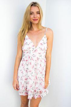 Dakota Pastel Creme and Pink Floral Dress