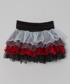 Another great find on #zulily! Black & Red Ruffle Skirt - Infant, Toddler & Girls #zulilyfinds