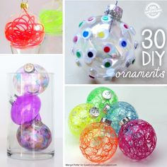30 Ways to Fill Ornaments Fun DIY ways to fill and decorate those glass ornaments for a unique statement on your tree. Christmas Crafts For Kids To Make, Christmas Tree Themes, Homemade Christmas Gifts, Diy Christmas Ornaments, Christmas Balls, Holiday Crafts, Christmas Ideas, Christmas Stuff, Xmas