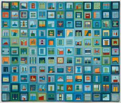"""Color Story: Horizon, 39"""" x 33"""", 2013 (sold)..........I just LOVE what she does sooooo much.  I would love to have one in my house!"""