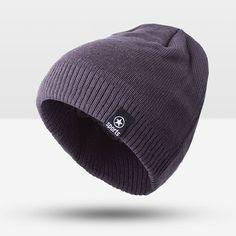 Men Warm Cap For Men Cap Beanie Cotton Knit Cap Ski Crochet Cuff Plus