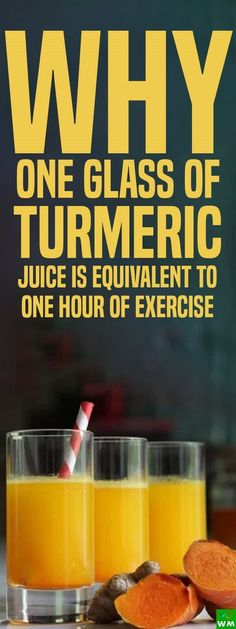 Turmeric juice can improve your cardiovascular health as much as physical exercise.