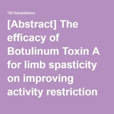 botulinum toxin and spasticity