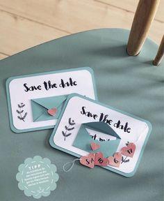 Detailreiche Save-The-Date-Karten - Anleitung im Link